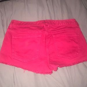 Express Shorts - Pink denim express shorts